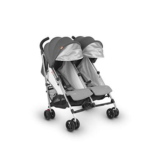 UPPAbaby G-Link 2 Stroller- Jordan (Charcoal Melange/Silver), Gray
