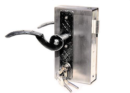 UHRIG ® Kastenschloß Schlosskasten 40 mm komplett Set !! mit Drücker Kurzschild PZ Profilzylinder #924