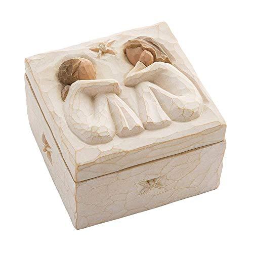 oshhni Linda Caixa de Lembrança Pintada à Mão para Presente de Amizade - Caixa quadrada, Tamanho real