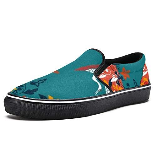 Laufschuhe für Damen Flower Crane Dance Fashion Sneakers Mesh Atmungsaktiv Wandern Tennis Schuhe, Mehrfarbig - mehrfarbig - Größe: 38.5 EU