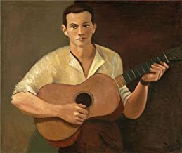 'Andre Derain,Guitar Player,1928' Oil Painting, 20x24 Inch / 51x60 Cm ,printed On Perfect Effect Canvas ,this Best Price Art Decorative Prints On Canvas Is Perfectly Suitalbe For Laundry Room Decoration And Home Decor And Gifts