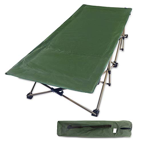 REDCAMP Folding Camping Cots for Adults Heavy Duty, 33' Extra Wide Sturdy Portable Sleeping Cot for Camp Office Use, Green Larger