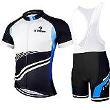X-TIGER Hombres de Bicicleta con 5D Gel Acolchado MTB Ciclismo Tirantes Culotte Pantalones Cortos Culotes (#2,...