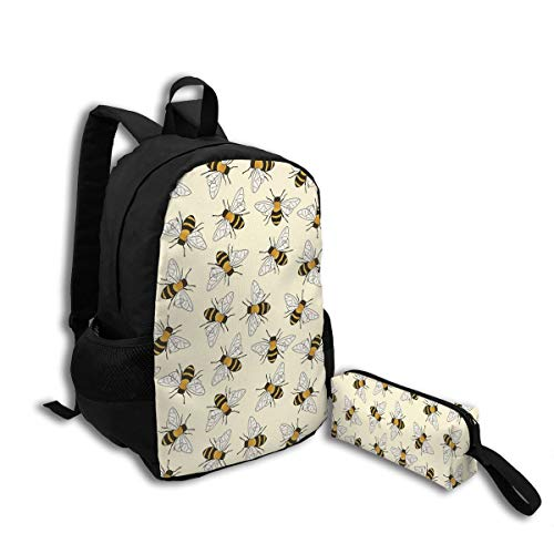 Oswz Happy Busy Bees Travel Backpack Insulated Soft Lunch Cooler for Men Women, Best for Picnic, Hiking, Travel, Beach, Sports, Work