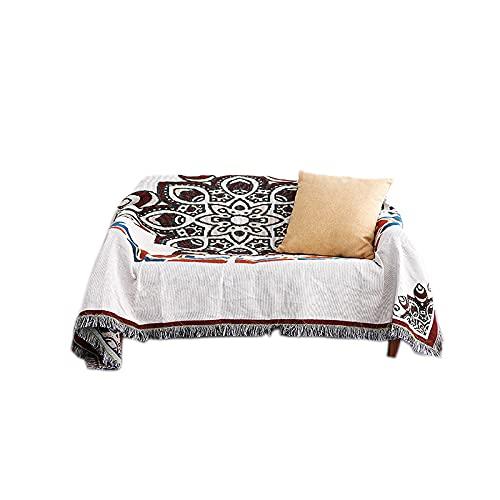 DANDAR Juego de funda de sofá para cama, funda de polvo, sofá y sillón de estilo bohemio en ambos lados de diferentes lados de la alfombra de picnic con diseño de flores, 130 x 160 cm