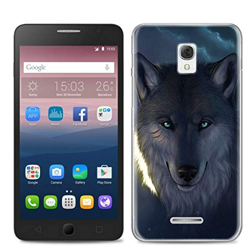 Litao-Case LLM Hülle für Alcatel One Touch Pop Star 3G 5022D hülle TPU Weiches Silikon Schutzhülle Case Cover 3