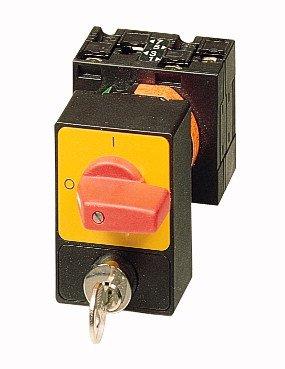 Eaton 050971 Panikschalter, 3-polig, 32 A, Zylinderschloss-Sperre Sva, Frontschild 0-1, 90 Grad, Rastend, Einbau, P