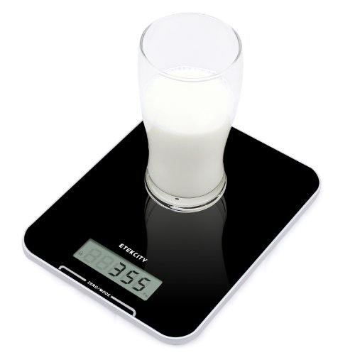 Etekcity 22lb/10kg Digital Kitchen Food Scale Pro, Ultra Thin and High Accuracy, Volume measurement Supported