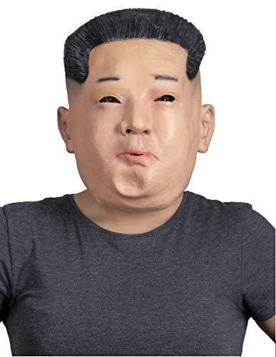 MKS Mscara de Halloween de ltex sobre la cabeza (Kim Jong un)