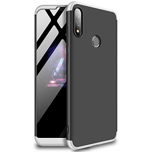 EUDTH Capa Zenfone Max Pro (M2) ZB631KL, capa ultrafina 3 em 1 destacável, capa fosca rígida de policarbonato à prova de choque, capa protetora de corpo inteiro para Asus Zenfone Max Pro (M2) ZB631KL - Prata