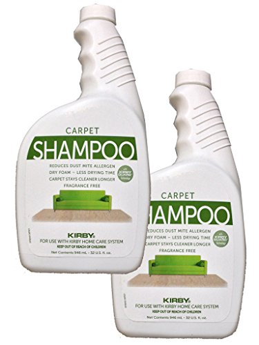 2 - 32 oz. Genuine Kirby Allergen Shampoo (UnScented). Use with all model Kirby Vacuum Cleaner Shampooer Systems.