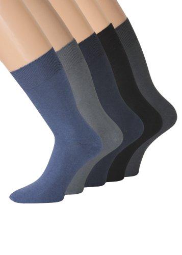 Socken ohne Gummi Herrensocken ohne Gummibund ohne Gummizug, Gr 43-46, 10 Paar