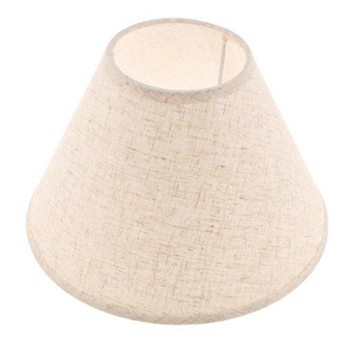 E27 Lampenschirm für Tischlampe, Farben Wählbar - Flachsfarben