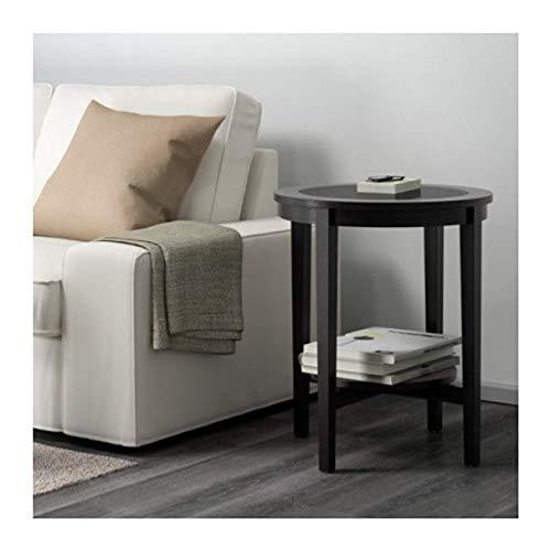 IKEA Malmsta 802.611.83 - Mesa auxiliar (21 1/4 pulgadas), color negro y marrón