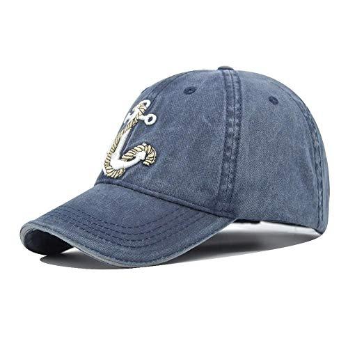 SZJXZ Baseballmütze Baumwolle Baseball Caps Waschen Alte Piratenschiff Anker Gorras Waschen Cap Dad Hats Hochwertige Cap Snapback Cb201D
