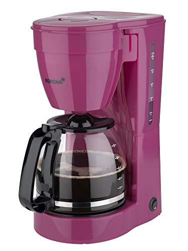 Korona 10119 Kaffeemaschine | Filter Kaffeeautomat für 12 Tassen Kaffee | Kanne aus Glas | Lila | 800 Watt