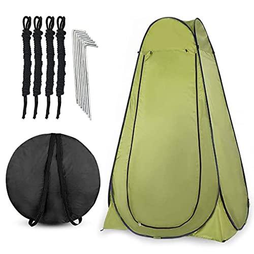 Carpa de Ducha Camping Tienda de Ducha 120x120x190 cm Tienda Plegable Camping con 2 Ventanas y Bolsa Carpa Multifuncional (Ejercito Verde)