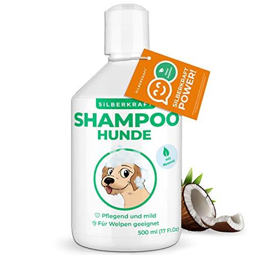 Silberkraft Hundeshampoo für Welpen 500 ml mit Neemöl, Shampoo für Hunde sensitiv, Hunde-Shampoo gegen Juckreiz und Geruch, Shampoo Hunde für glänzendes und gesundes Fell