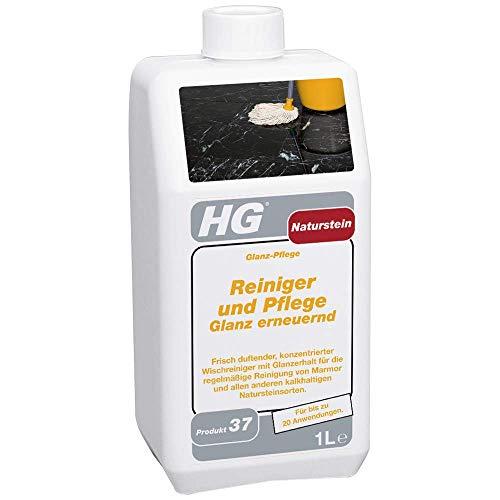 HG Naturstein Reiniger und Pflege Glanz Erneuernd (Glanz-Pflege) 1L – Für Marmor- und Natursteinpflege - Für Regelmäßige Reinigung