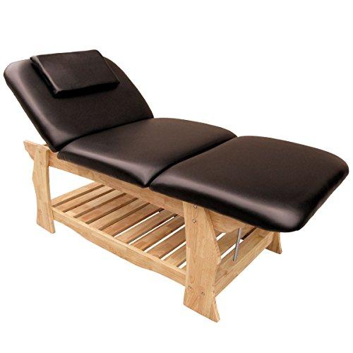 eyepower Mesa para Masajes 190x70cm reclinable 3 Zonas Camilla de madera marrón