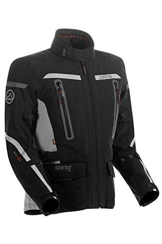 Dane Motorradjacke Torben 2 PRO SHELL Gore Tex Jacke, Schwarz/Grau, 28