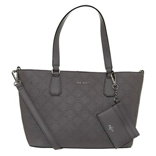 Nine West Marcelie Small Trap Tote Greystone One Size