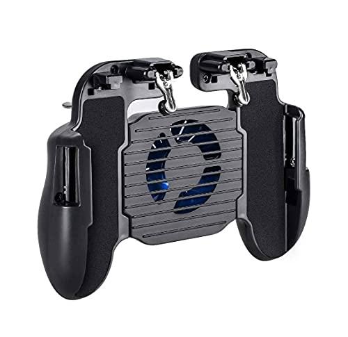 QIXIAOCYB Grip de Juegos con el Cargador portátil Que se enfría al Ventilador for PUBG Controlador móvil L1R1 Juego de excepción del Juego móvil for el teléfono de 4-6.5'