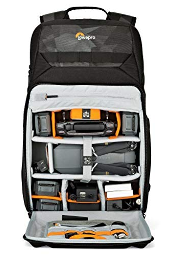 """Lowepro LP37099 DroneGuard BP 250 - A specialized drone backpack providing rugged protection for your DJI Mavic Pro/Mavic Pro Platinum, 15"""" laptop and 10"""" tablet,Black/Fractal"""