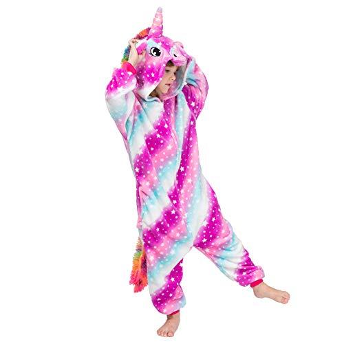 Alltops Niños Unicornio Mono Pijama Franela Niños Niñas Kigurumi por 2-10 años