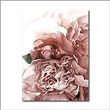 Flores rosadas planta verde póster impresión lienzo pintura imagen inicio pared...