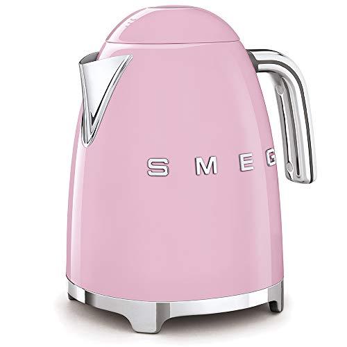 Smeg KLF03PKUK Retro Style Kettle 1.7 Litre, Pink