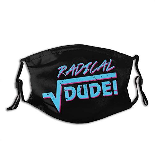 Radical Dude Winddichter Mundschutz mit austauschbarer Filter-Aktivkohle-Staubschutzhülle