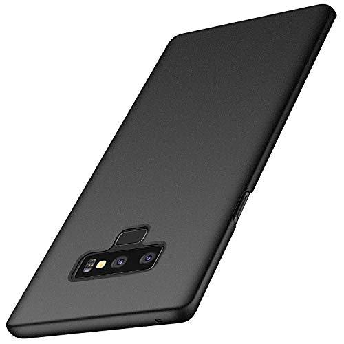 Anccer Funda Samsung Galaxy Note 9, Ultra Slim Anti-Rasguño y Resistente Huellas Dactilares Totalmente Protectora Caso de Duro Cover Case para Samsung Galaxy Note9 (Grava Negro)