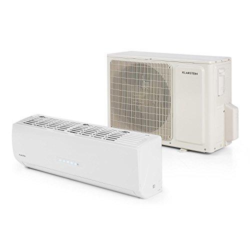 Klarstein Windwaker Supreme 9000 Inverter Split-Klimaanlage Klimagerät (9000 BTU, 2,6kW Kühlleistung, 2,8kW Heizleistung, 5 Betriebsmodi, 650 m³/h Luftstrom, mit Fernbedienung) weiß