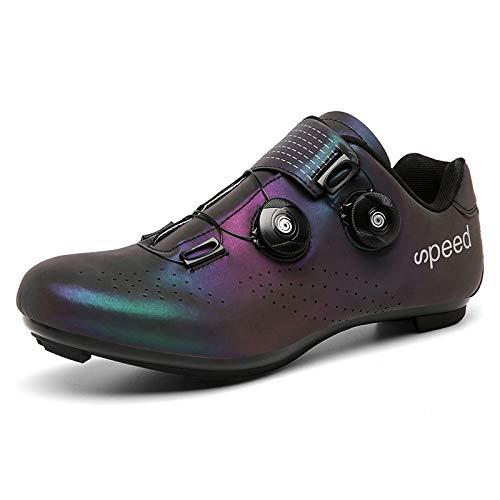 JMAR Zapatillas De Ciclismo - Zapatillas De Ciclismo para Hombre Bicicleta De Carretera Zapatillas De Ciclismo Antideslizantes para Hombre Zapatillas De Pedal