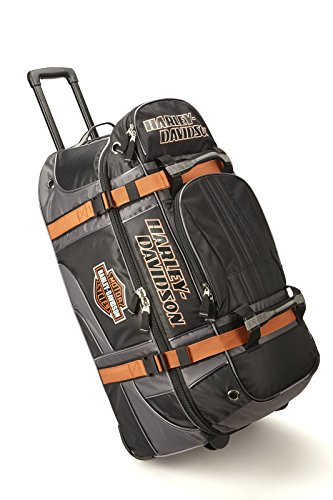 Harley Davidson 22' Wheeled Equipment Duffel, Black, One Size
