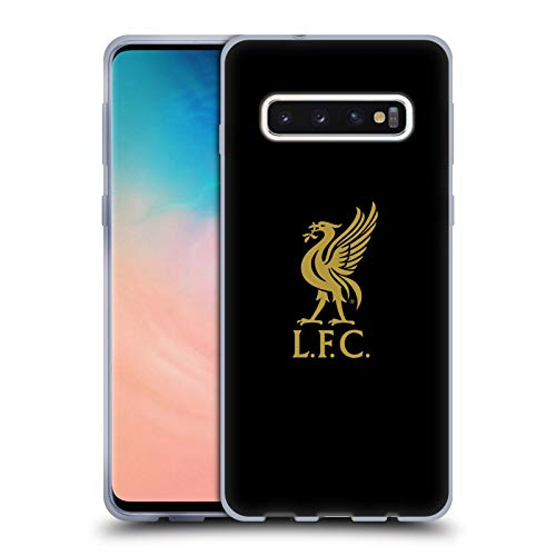 Head Case Designs Officially Licensed Liverpool Football Club Gold Logo On Black Liver Bird Soft Gel Case Compatible with Samsung Galaxy S10