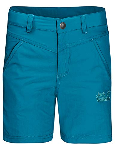 Jack Wolfskin Kinder Sun Shorts K Schnelltrocknende Wanderhose Kurz, Blue Reef, 152