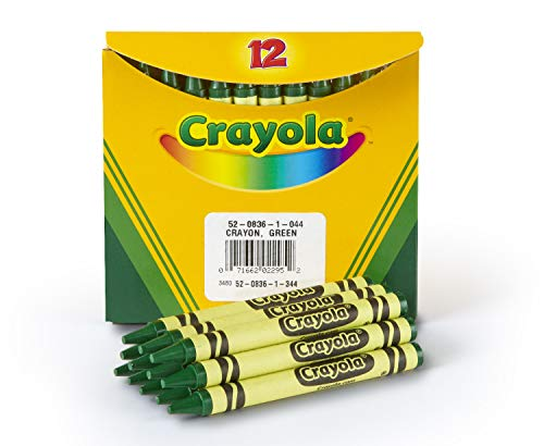 Crayola Crayons in Green, Bulk Crayons, 12 Count