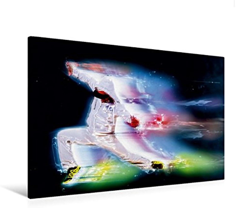 Calvendo Premium Textil-Leinwand 120 cm x 80 cm quer, The Dance Explosion Neonlicht   Wandbild, Bild auf Keilrahmen, Fertigbild auf echter Leinwand, Leinwanddruck Kunst Kunst