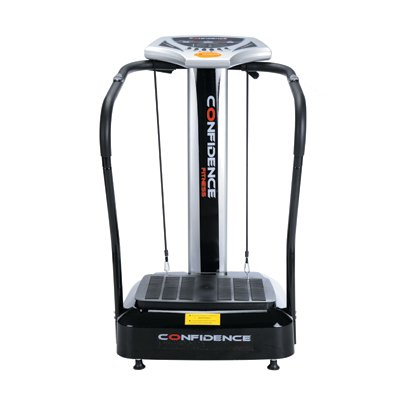 Confidence Fitness Slim Full Body Vibration Platform Fitness Machine, Black