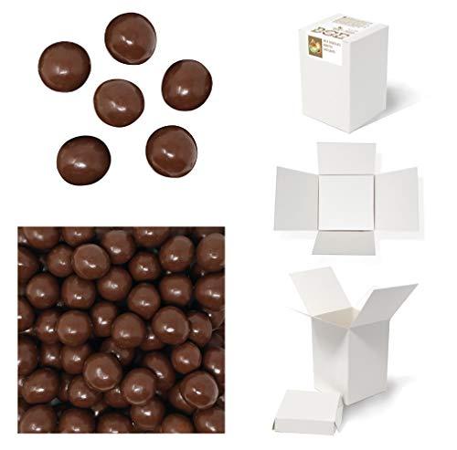 Bulk Gourmet Emporium - Noisettes torréfiées au chocolat au lait belge, sans plastique, adapté au régime végétarien, halal, fruits secs enrobés de chocolat, 460g