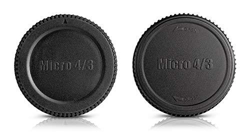Ares Foto® Set mit Gehäusedeckel und Objektivrückdeckel für Micro Four Thirds MFT M4/3 Olympus Pen E-PL7 E-PL6 E-PL5 E-P5 usw. (L-R7)