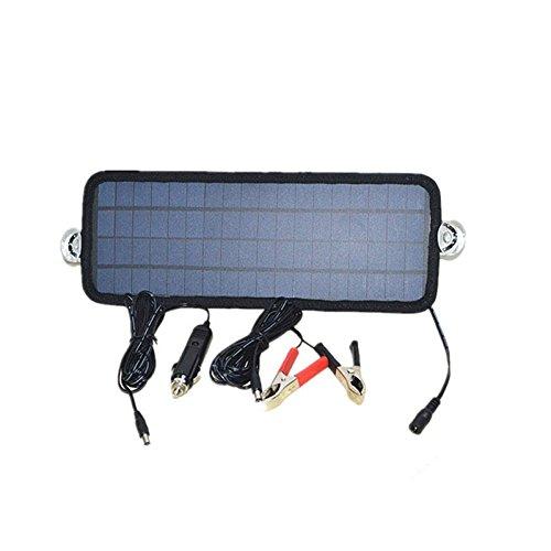 Pijpklemmen 4,5 W draagbare zonnecellen oplaadbare oplader voor de batterij, auto-boot-accu