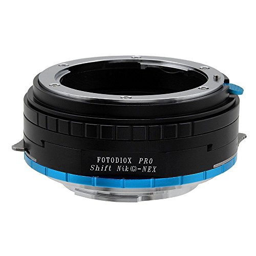 Fotodiox Pro Lens Mount Shift Adapter Nikon G (FX, DX & Older) Mount Lenses to Sony E-Mount Mirrorless Camera Adapter - voor Sony Alpha E-mount Camera Bodies (APS-C & Full Frame zoals NEX-5, NEX-7, △7, FaceTime 7, FaceTime 7II)