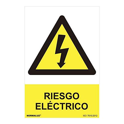 Normaluz RD31007, Señal Riesgo Eléctrico PVC Glasspack 0.7 mm, 30x40 cm