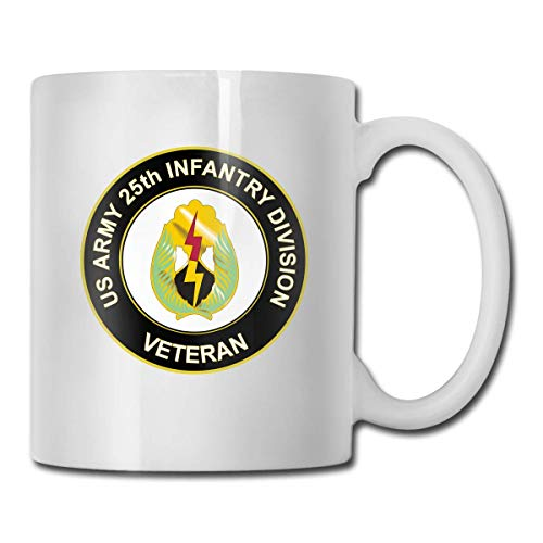 U.S. Army Veteran 25th Infantry Division Unit Crest Gift Funny Coffee Mug Tea Cup White Dougong