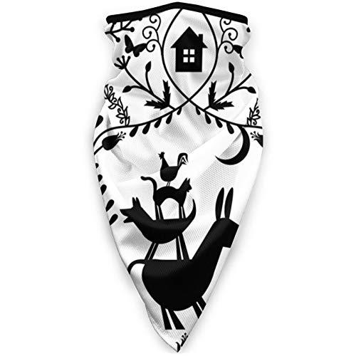 GMGMJ Bremen Town Músicos al aire libre máscara de la boca de la cara a prueba de viento máscara de esquí máscara escudo bufanda bandana hombres mujer