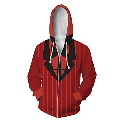 Hazbin Hotel Hoodie Jacket Angel Dust Charlie 3D Cosplay Disfraz Novedad Pullover Sudadera Unisex