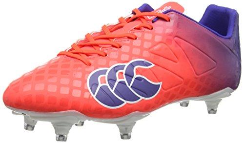 Canterbury Speed Club 6-Stud Rugby Boots, Purple/Orange, US10.5